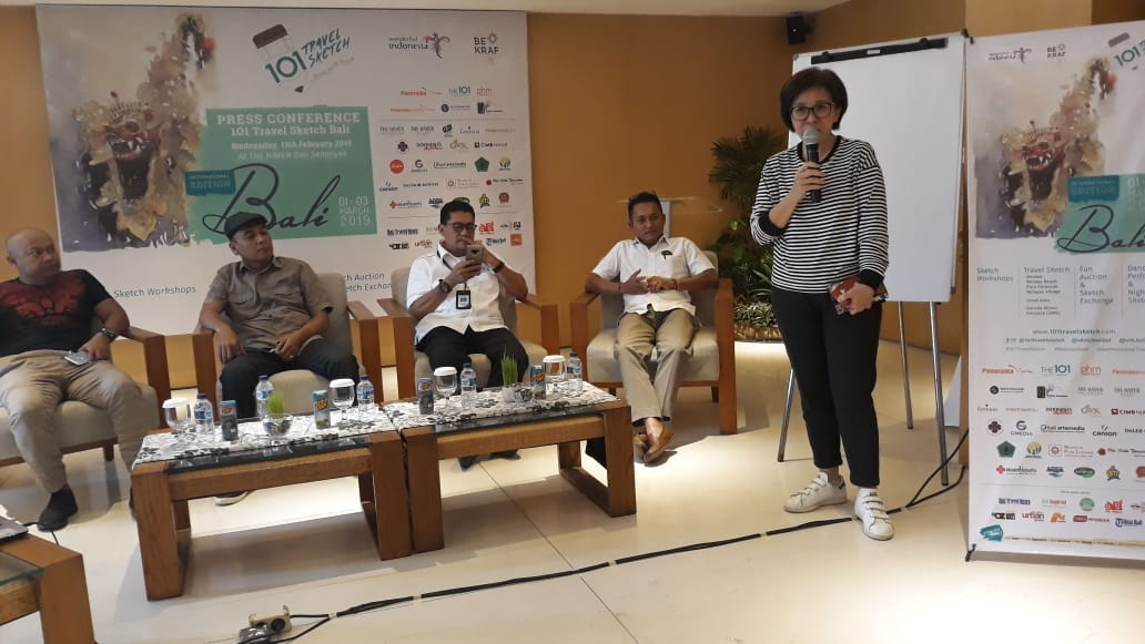 Bali Jadi Tuan Rumah Sketsa Seni lnternasional Pertama di Indonesia