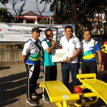CSR PLN Bali Bantu Sarana Olahraga dan Fasilitas Listrik di Lapangan Bajra Sandhi Renon