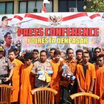 Operasi Pekat Agung 2019, Polresta Denpasar Bekuk Enam Pelaku Kejahatan