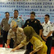 Komunitas Bandara Ngurah Rai Deklarasikan Kawasan Bebas Korupsi