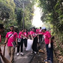 GenBI Gelar Bersih Sampah di Pasar Sidemen Karangasem