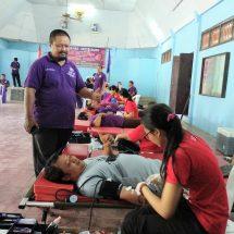Donor Darah HUT ke-10 Mangupura, PC FSP Par – SPSI Badung Gandeng UPTD Badung