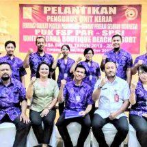 PUK FSP PAR – SPSI Sadara Boutique Beach Resort Dilantik, Pekerja Wajib Beri Kontribusi Terbaik Kepada Perusahaan