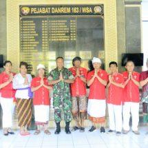 Jelang Perayaan Imlek 2571/2020, INTI Bali Audiensi ke Danrem 163 Wira Satya