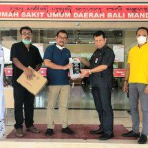 Dukung Pencegahan Virus Corona, Golkar Bali Bantu Masker dan Sanitizer kepada RS Bali Mandara