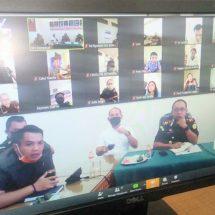 Cegah Covid-19, Kajari Denpasar Pantau Pegawai Kerja di Rumah Lewat Video Conference