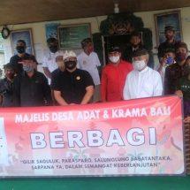 """""""MDA dan Krama Bali Berbagi"""" Serahkan Bantuan Sembako di Bangli"""