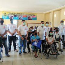 Pejuang Bravo Lima Bali Bantu Sembako Penyandang Disabilitas