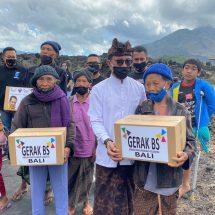 Gerak BS Bali Bantu Warga Terdampak Covid-19 di Kintamani