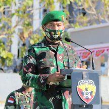 Pangdam Udayana Terima Satgas Pamtas RI RDTL Yon Armed 3/105 Tarik