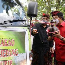 Gubernur Bali Lepas Ekspor Kakao Fermentasi 10 Ton ke Osaka Jepang