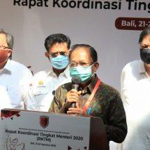 Hadiri Rapat Koordinasi Tingkat Menteri di Nusa Dua, Gubernur Koster Sampaikan Harapan Pemulihan Ekonomi Bali