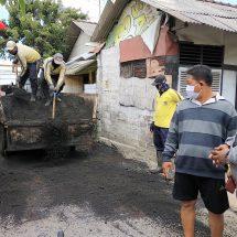Berkat IGW, Jalan Rusak di Banjar Sumuh Diperbaiki