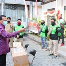 Pemprov Bali Bantu 30.000 Masker Untuk 10 Ribu Pelaku Gojek