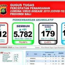 Perkembangan Covid-19 di Bali, Kasus Meninggal Bertambah Lima, Total 179 Orang