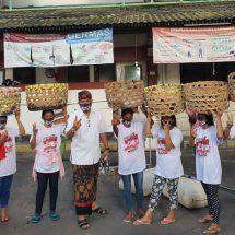 Kunjungi Pasar, Pedagang Berharap Paslon Amerta Bisa Majukan Denpasar