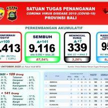Perkembangan Covid-19 di Bali: Sembuh 141, Tujuh Meninggal