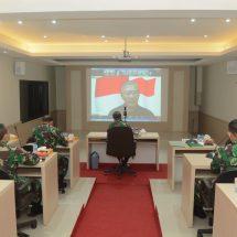 Antisipasi Libur Panjang, Kasdam IX/Udayana Ikuti Vidcon Dengan Ketua Satgas Pusat Covid-19
