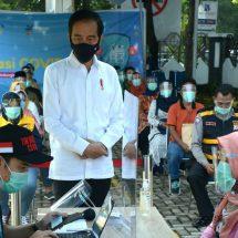 Presiden Jokowi Sidak Pelaksanaan Simulasi Vaksinasi Covid-19 di Kota Bogor