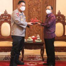 Pindah Tugas, Irjen Petrus Golose Pamitan dengan Gubernur dan Wagub Bali