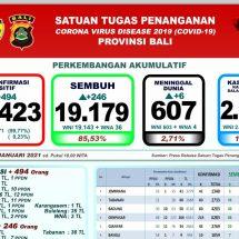 Lagi Enam Pasien Covid di Bali Meninggal, Total 607 Orang