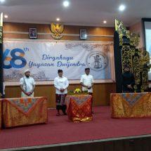 Sederhana, Peringatan HUT Ke-68 Yayasan Dwijendra