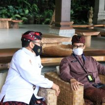 Wagub Cok Ace Minta Dukungan Menparekraf Bangkitkan Pariwisata Bali