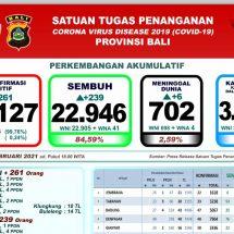 Update Penanggulangan Covid-19 di Bali, Pasien Meninggal Bertambah Enam, Total 702 Orang