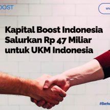 Saat Pandemi, Kapital Boost Indonesia Salurkan Lebih Rp 47 Miliar ke UKM Indonesia
