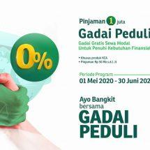 Konsisten Bantu Masyarakat, Pegadaian Perpanjang Program Gadai Bunga Nol Persen Hingga 30 Juni 2021
