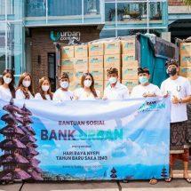 Sambut Nyepi, Bank Urban Bagikan 1.000 Paket Sembako Untuk Masyarakat