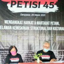 "Komunitas Cinta Pertanian IndonesiaBuat ""Petisi 45"",Petani Harus Sejahtera"