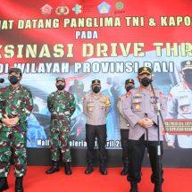 "Panglima TNI dan Kapolri Tinjau Vaksinasi ""Drive Thru"" di Bali"