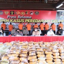 Polri Ungkap Peredaran 2,5 Ton Sabu Jaringan Timur Tengah, Malaysia dan Indonesia