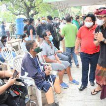 Walikota Jaya Negara Tinjau Vaksinasi Bagi Disabilitas