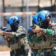 Komandan Kontingen Garuda TNI Hadiri Penutupan Urban Combat Training