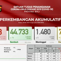 Update Penanggulangan Covid-19 di Bali, Lagi Lima Pasien Meninggal