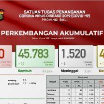 Update Penanggulangan Covid-19 di Bali, Pasien Meninggal Bertambah Tiga, Sembuh 35 Orang