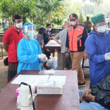 30 Orang Dirapid Antigen di Lapangan Puputan Badung Denpasar