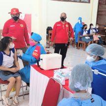 Kejar PTM, SMA Negeri 5 Denpasar Melaksanakan Vaksinasi Lanjutan