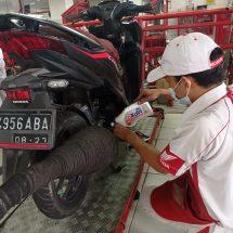 Service Motor Honda di Hari Minggu, Berhadiah Oli
