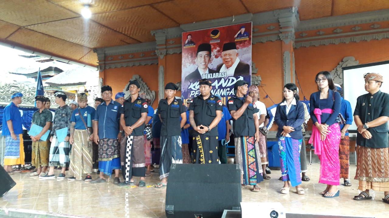 NasDem Sukasada Bentuk Komando Pemenangan Jokowi-Ma'ruf Amin