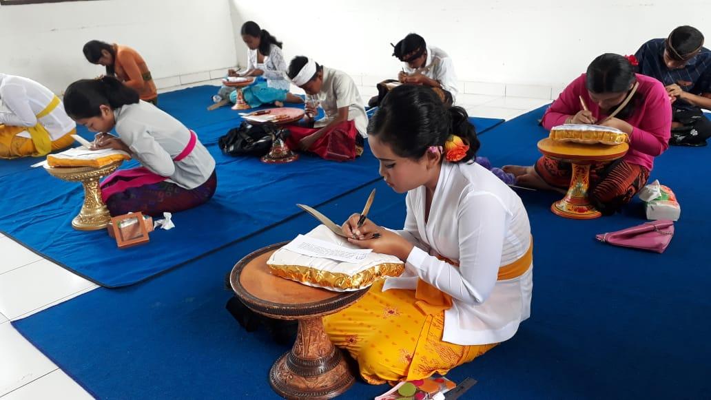 Peringatan Bulan Bahasa Bali 2019 di Bangli