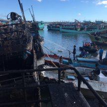 Lagi, Tiga Kapal Ikan Terbakar di Pelabuhan Benoa