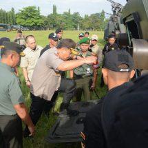 Sinergitas Kodam Udayana dan Polda Bali pada Apel Gelar Pasukan Pengamanan VVIP