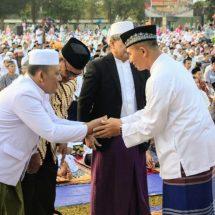 Pangdam Bersama Kasdam Sholat Idul Fitri di Makorem 163/WSA