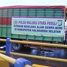 Wakapolda Maluku Utara Lepas Bantuan Untuk Korban Bencana Halmahera Selatan