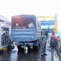 Lanal Ternate Distribusi Bantuan Korban Gempa Halsel