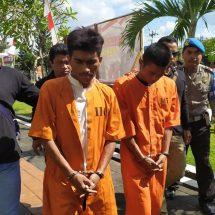 Dua Residivis Bobol Rumah Kosong Dikeler ke Polresta Denpasar