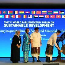 "Pimpinan Parlemen dari 28 Negara Hadiri ""The 3th World Parliamentary Forum on Sustainable Development"" di Bali"